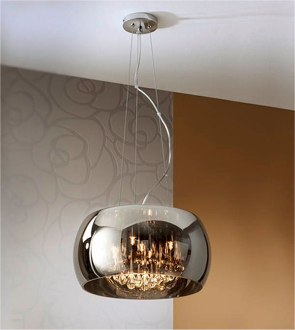 Lighting Styles These Spanish Made Lights Have A Shimmered Glass Shade And Crystal Droplets