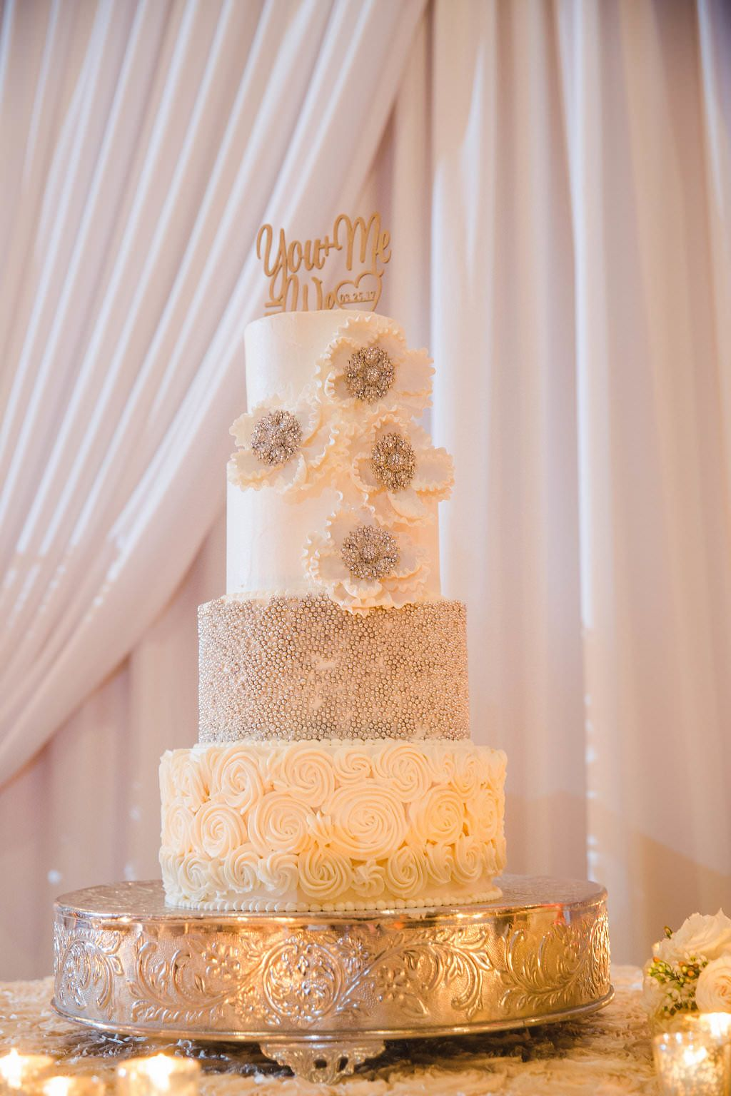 Elegant White Gold And Cream Downtown St Pete Garden Wedding