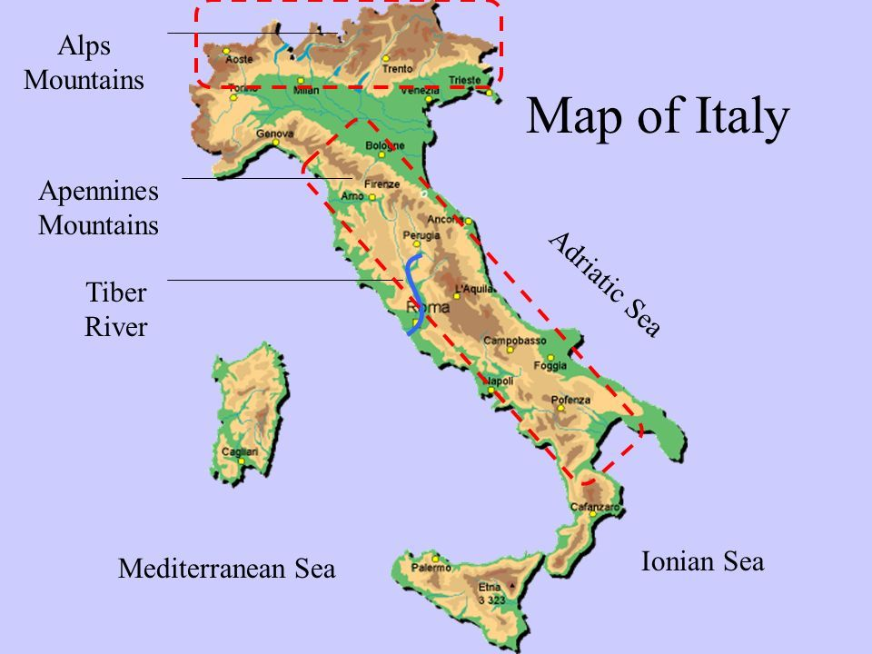 Image result for Topographical map of Italy ancient empire  Rome