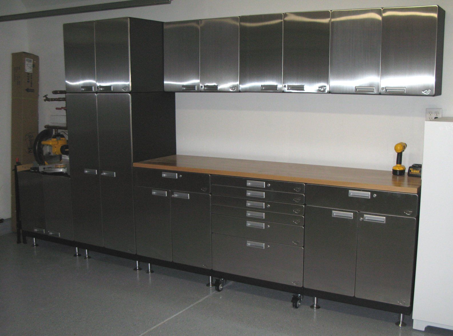 Elegant Metal Kitchen Base Cabinets