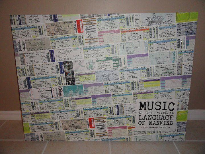 ticket stub canvas wall art