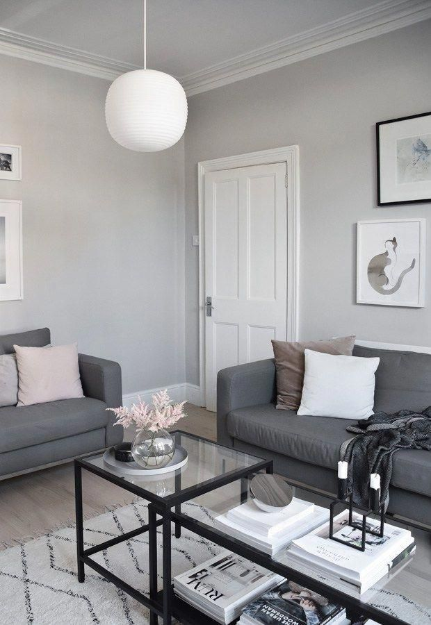 My soft minimalist living room makeover  the reveal these four walls blog moderninteriordesign also rh pinterest