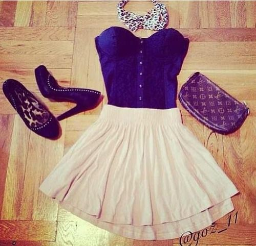 Cute , black heels , skirt and top | Cute Outfits. #Fashion ...