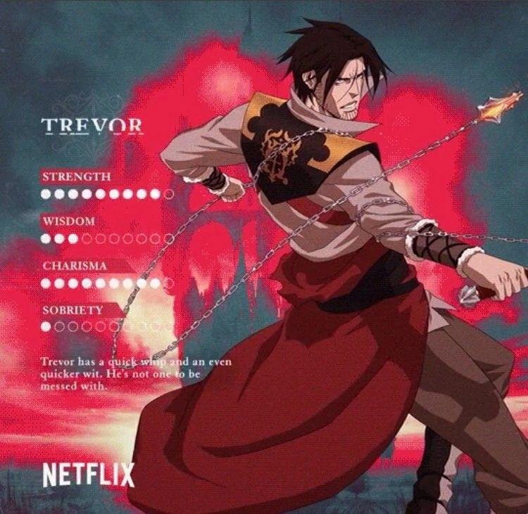 Castlevania Season 2 Trevor's stats | Castlevania in 2019 | Anime
