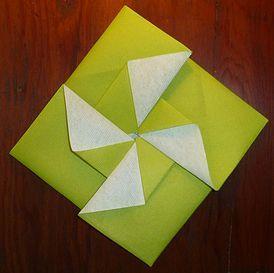pliage de serviettes de table en papier, pliage de papier, origami