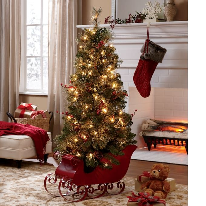 4 Ft Christmas Tree.4 Ft Tree In Red Sled Item Nw764776 Christmas Decor