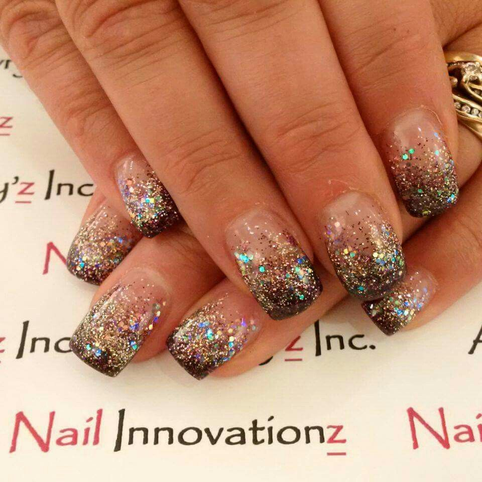 Super sparkle glitter fade gel nails. Perfect fall nails | Nailz by ...