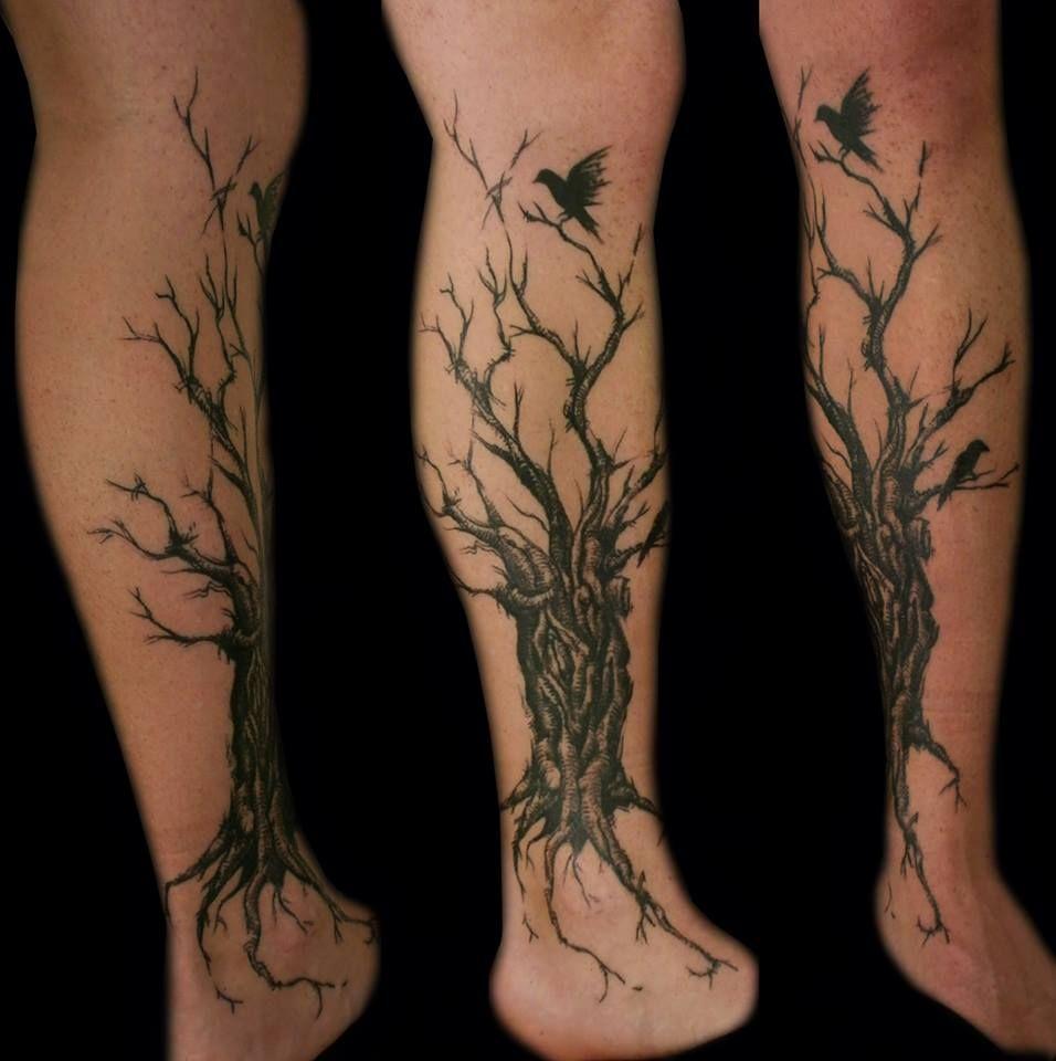 #tattoo #madrid #sketch #boceto #dibujo #tree #arbol #bird #pajaro #roots #raiz