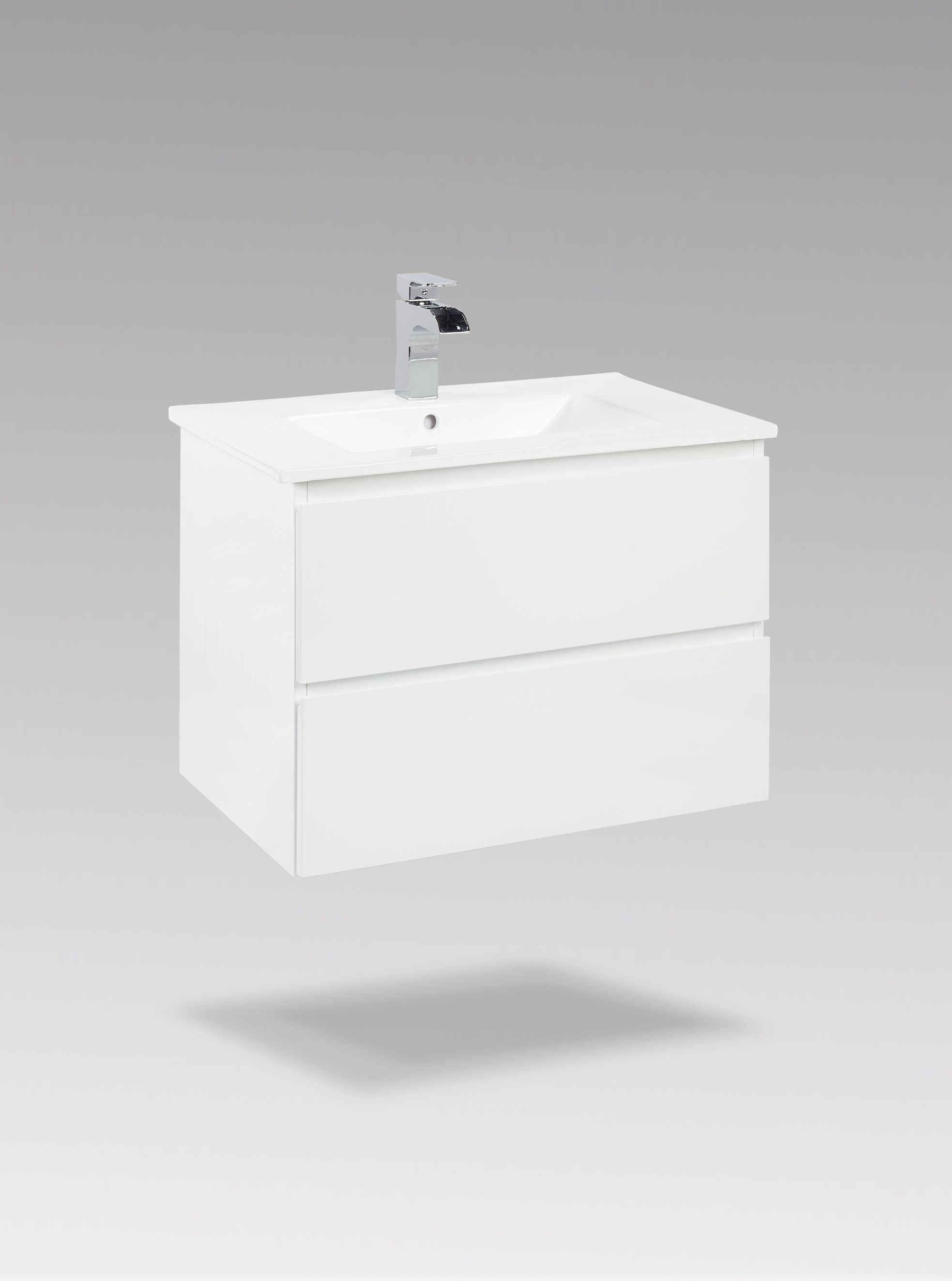MAHG2318 Painted white finish 2 Slow close drawers Carved drawer ...