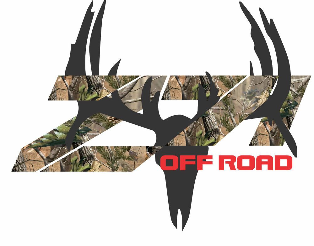 Z71 Chevrolet Truck 4X4 Off Road Camo With Deer Decal Sticker #Avery
