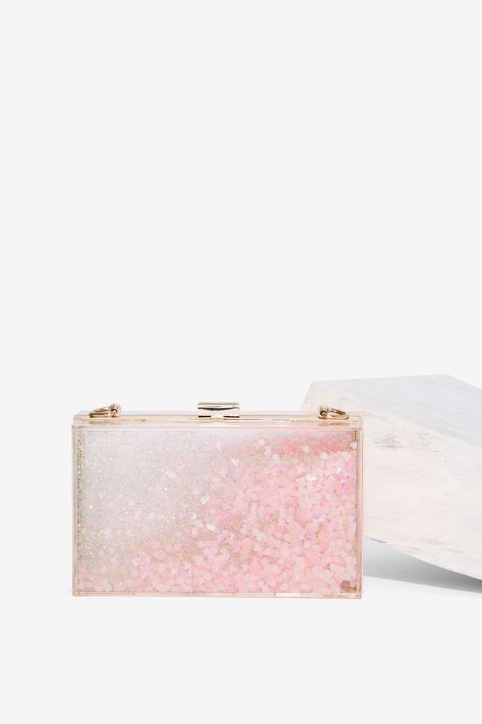 Skinnydip London Find It in Your Heart Clear Clutch - Accessories   Bags + Backpacks   Party Shop
