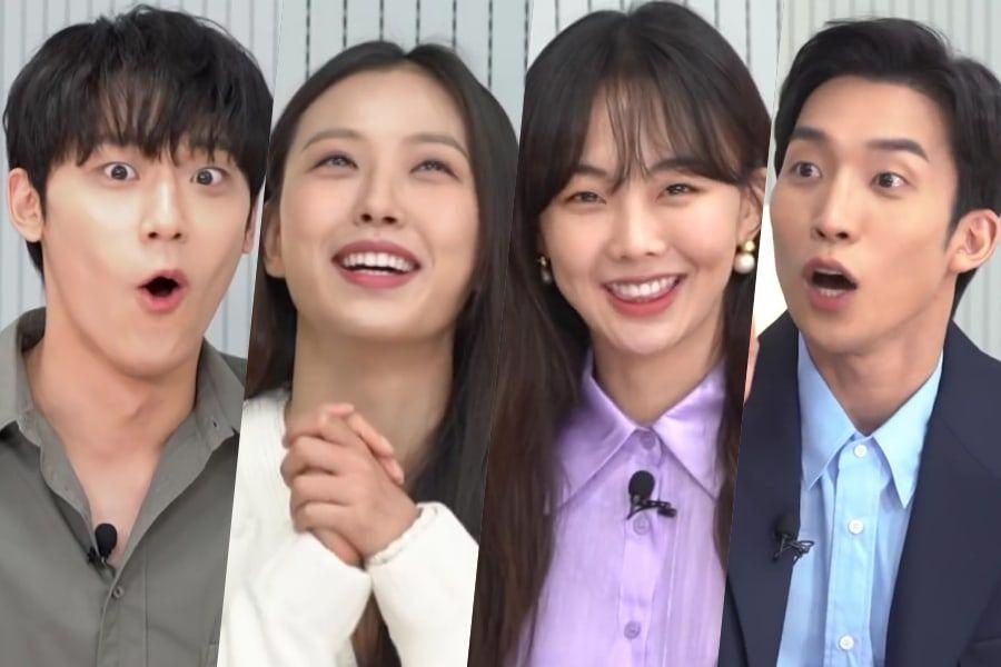 """Watch: """"Youth Of May"""" Cast Gets Competitive With Quiz On Lee Do Hyun's Alcohol Tolerance, Go Min Si In """"Sweet Home,"""" And More"""