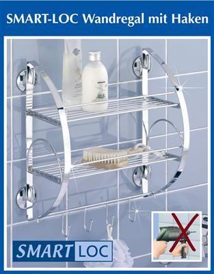 WENKO Badregal Bad Wand Regal Wandablage Handtuchhalter eBay - badezimmer regal ohne bohren