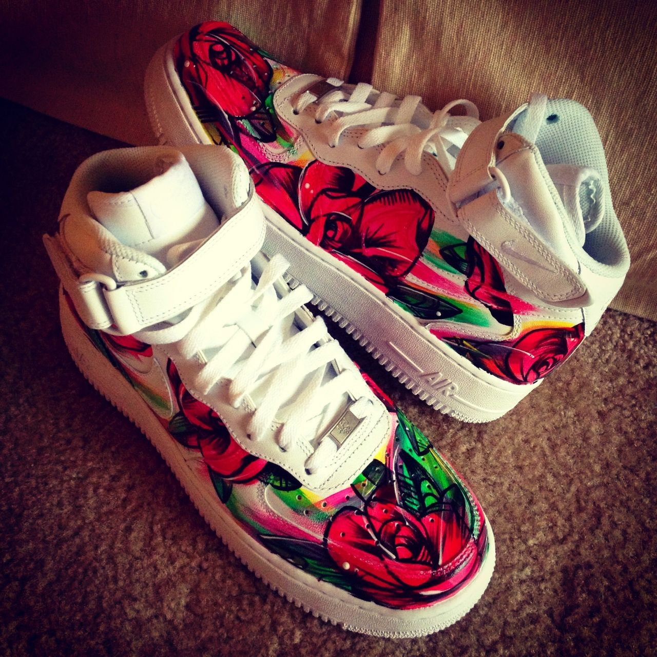YEAHLANO HAND PAINTED Nike Air Force One Today's Mood