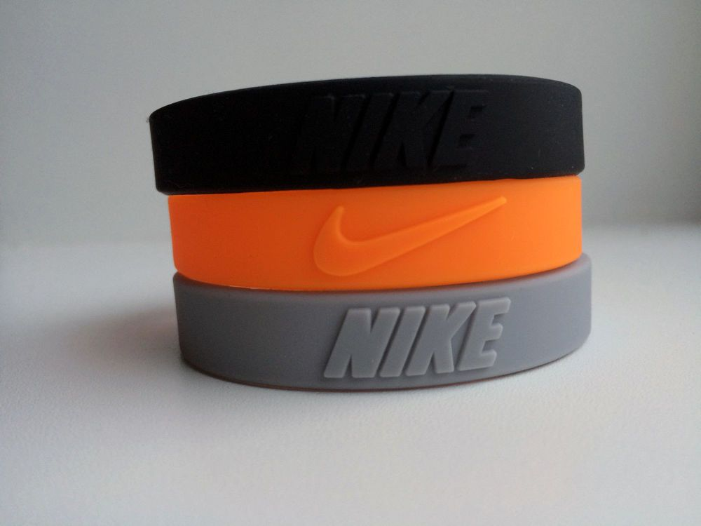 Nike New Baller Wristband Bracelet 3 Colors Silicone Rubber Jordan Nba