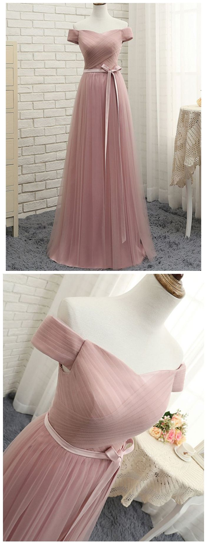 Off the shoulder dusty rose formal dresses plus size materity