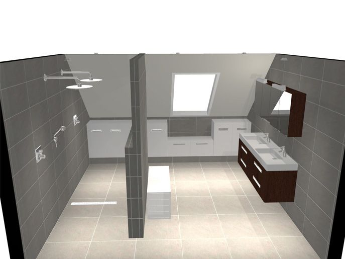 Badkamer onder schuin dak google zoeken bathroom pinterest attic bathroom lofts and attic - Mezzanine onder het dak ...