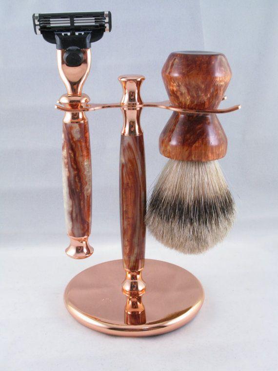 Copper Lightning Mach 3 Shaving Set Shaving Set Smell Good