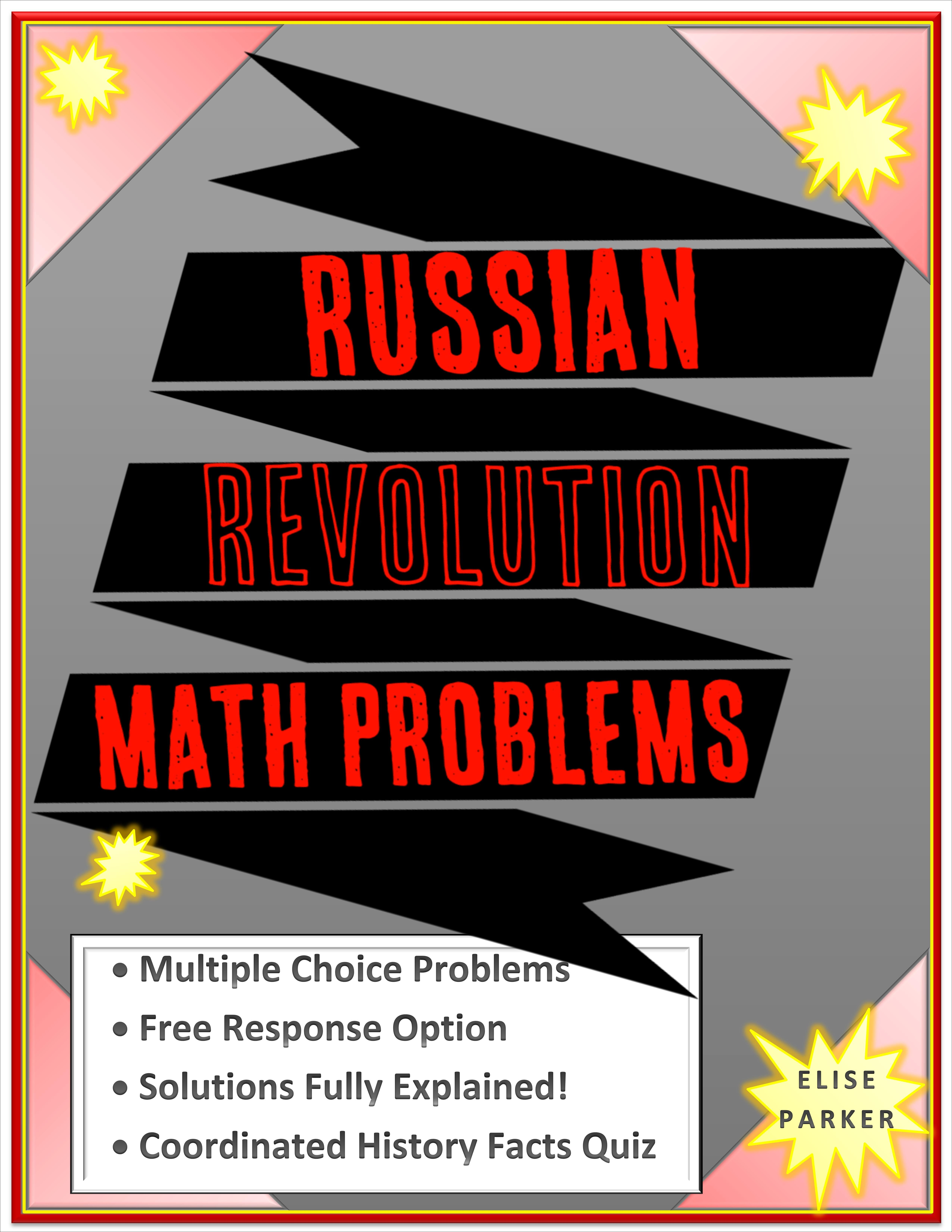 Russian Revolution Math Problems For Creative Teaching