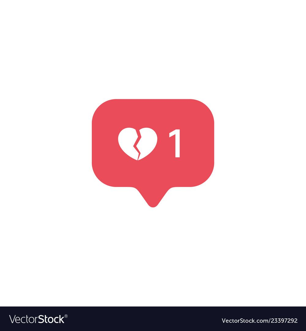Red Broken Heart Like New Message Bubble Quantity Number Notifications Icons Templates Social Netwo Broken Heart Wallpaper Broken Heart Images Heart Drawing