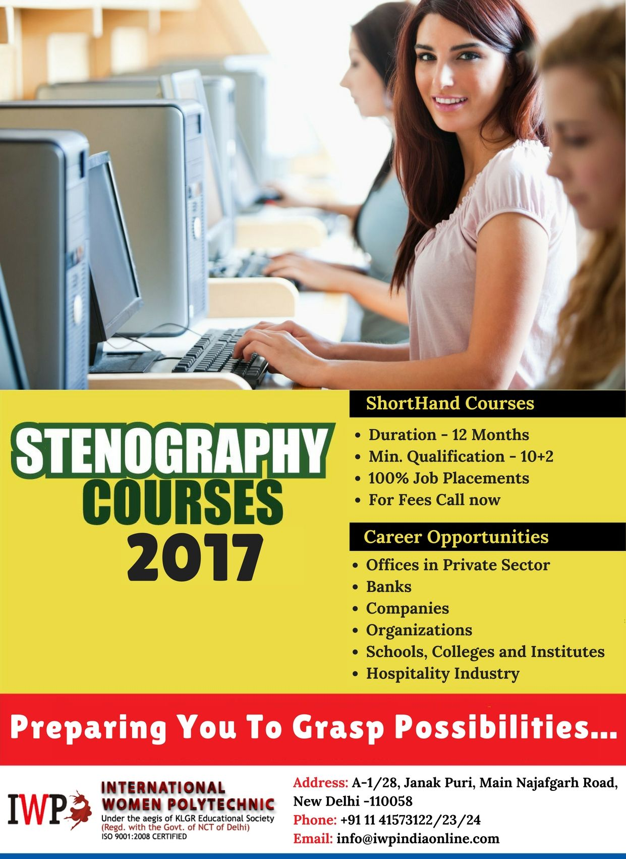The Process Of Writing In Shorthand Is Called Stenography Learn Stenography Courses From India S L Fashion Designing Course Hospitality Industry Job Placement