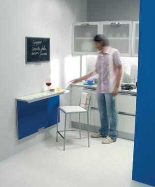 Mesas plegables para espacios peque os mesas para for Barras de cocina para espacios pequenos