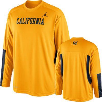 buy online ffab4 3bacc California Bears Gold Nike Jordan Long Sleeve Shoot Around ...