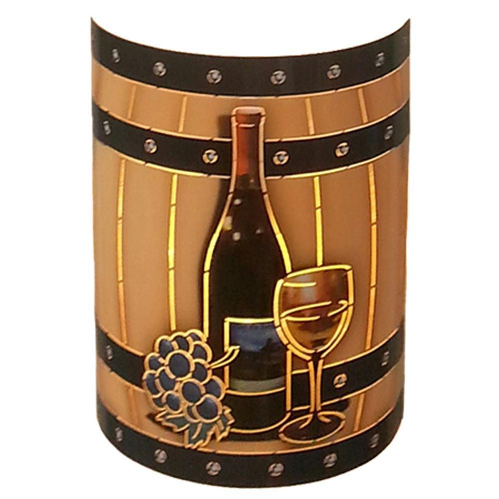 Aspen 1 Light Outdoor Multicolored Wine Barrel Wall Sconce Wine Barrel Wall Wine Barrel Jar Lights