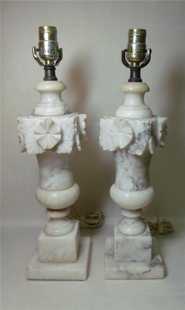 Vintage Marble Alabaster Lamps Alabaster Lamp Dining Room