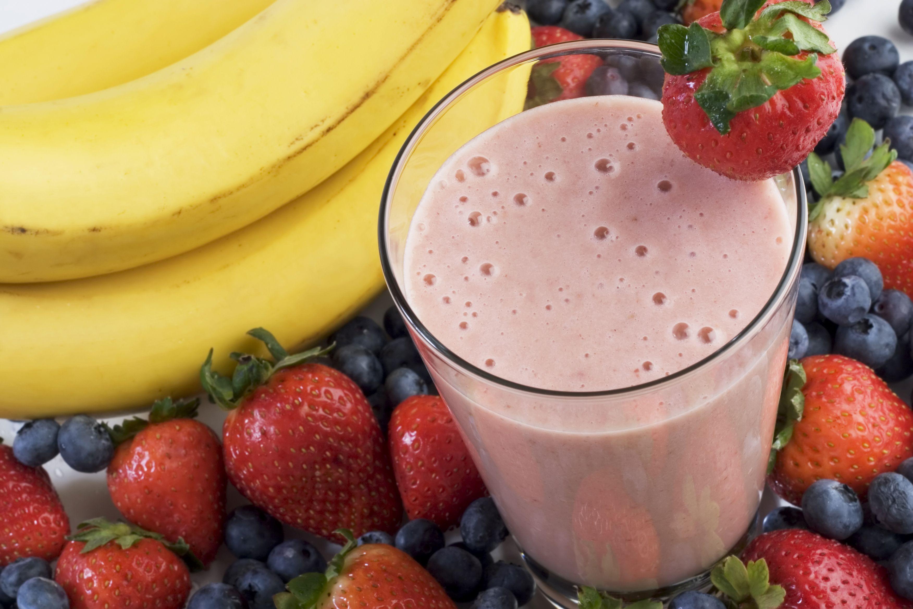 Licuado de yogurt con fruta