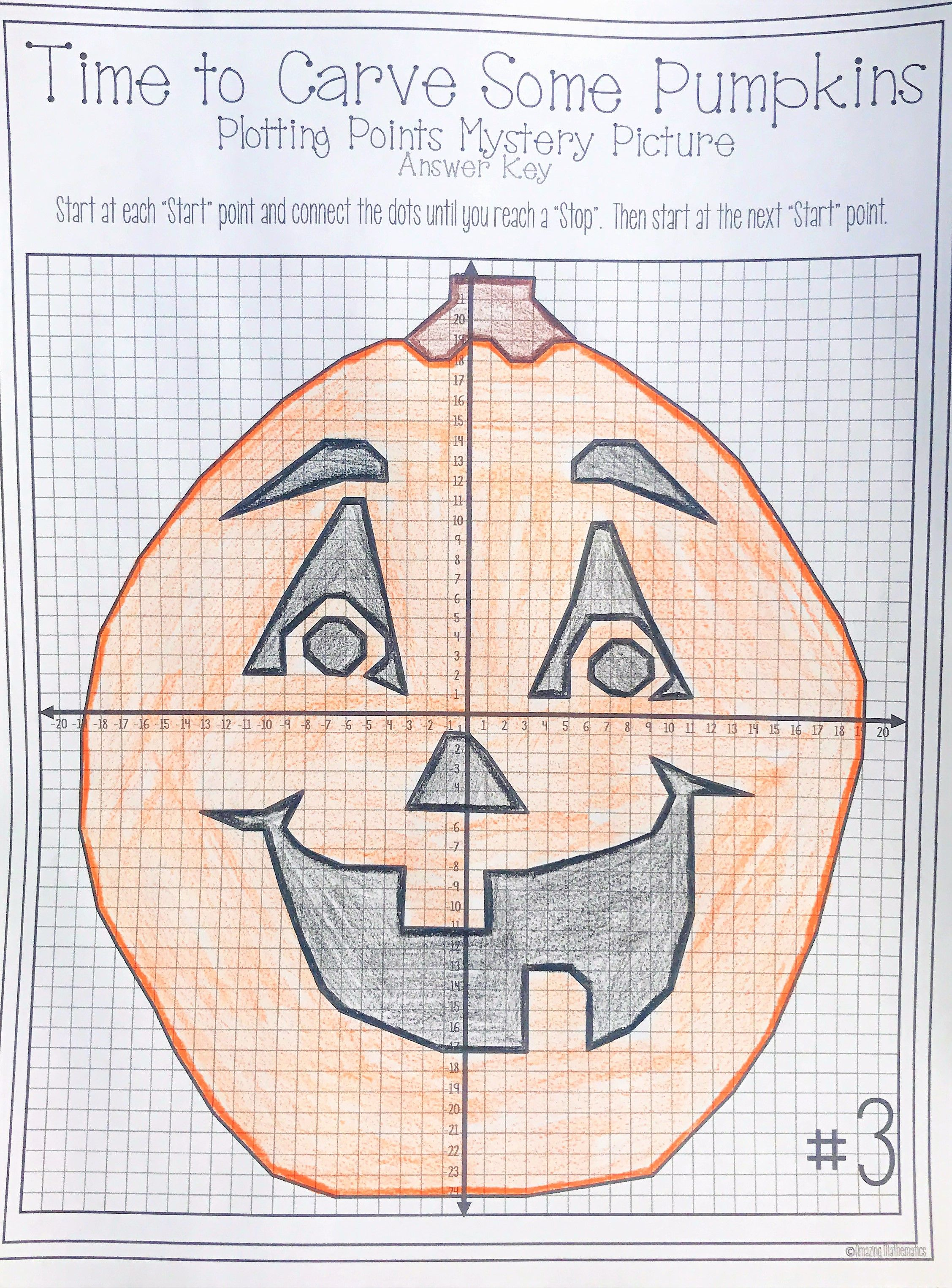 worksheet Pumpkin Coordinate Graph halloween pumpkin carving plotting points mystery picture math activity is perfect for the middle school classroom or even high students plot on c