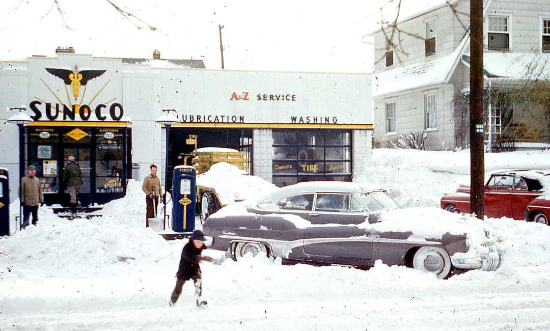 Sonoco Gas Station Columbus OH 1953,The location is