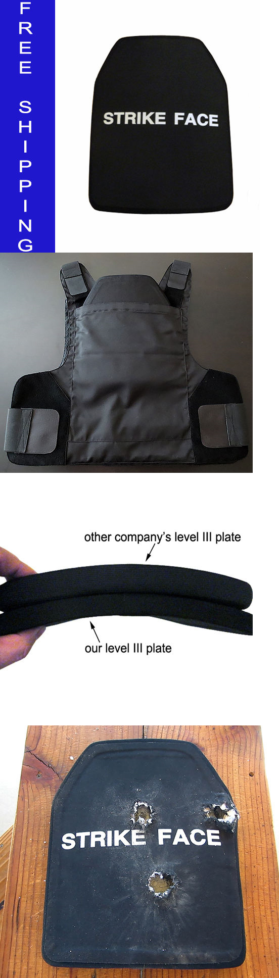 Body Armor and Plates 102537 Skarr Armor® Nij Level Iii + Ceramic Rifle Plate & Body Armor and Plates 102537: Skarr Armor® Nij Level Iii + Ceramic ...