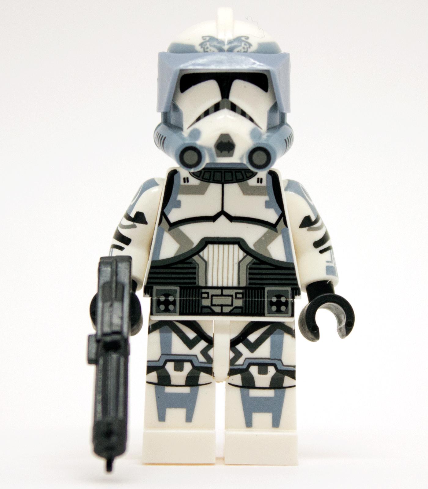 Lego 3 Minifigure Helmet 1 Darth Vader 2 Plain Clone Trooper Soldier Star Wars