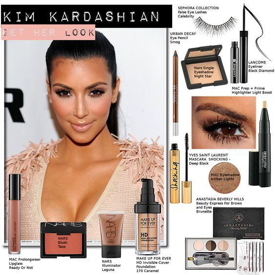 kim kardashian makeup, products she wear, brands and names ...