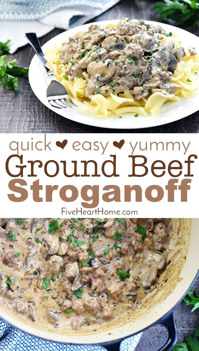 Cremiger Beef Stroganoff Mit Erdbeef In 2020 Beef Recipes For Dinner Homemade Beef Stroganoff Beef Stroganoff Easy