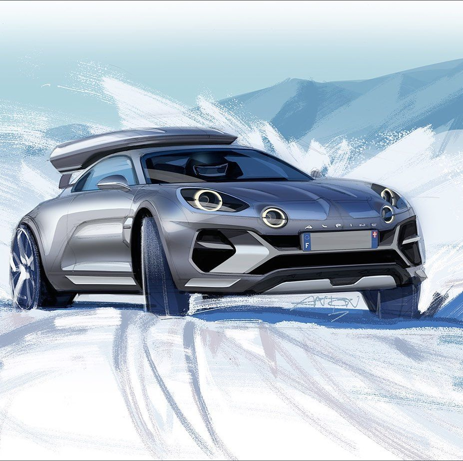 Alpine SportsX by Anton Shamenkov in 2020 Concept car