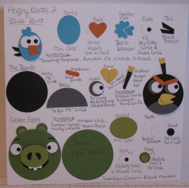 In My Craft Room: Angry Birds Punch Art Card