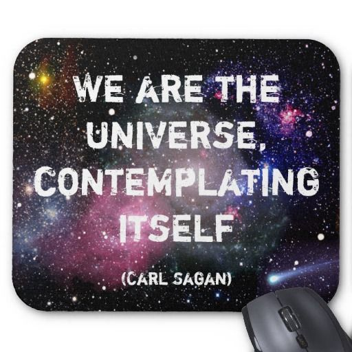 We are the universe, contemplating itself
