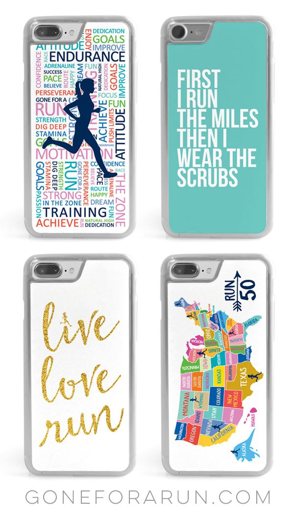 Get inspired to run each day with our colorful and motivational iphone cases. Makes a great gift!
