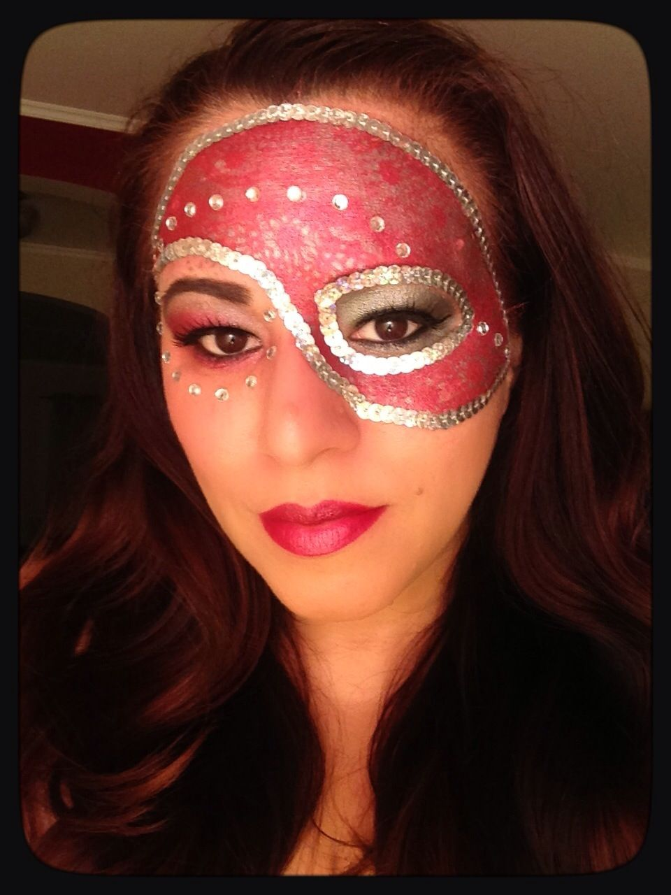 Masquerade Mask done by Makeup by Traci http://www.tracigarcia.wix ...