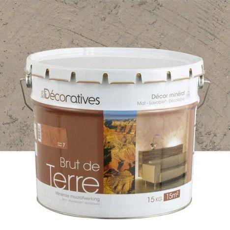 Enduit Decoratif Brut De Terre Les Decoratives Brun Silex 15 Kg Ice Bucket