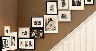 This is a neat way to add pictures to the stair case
