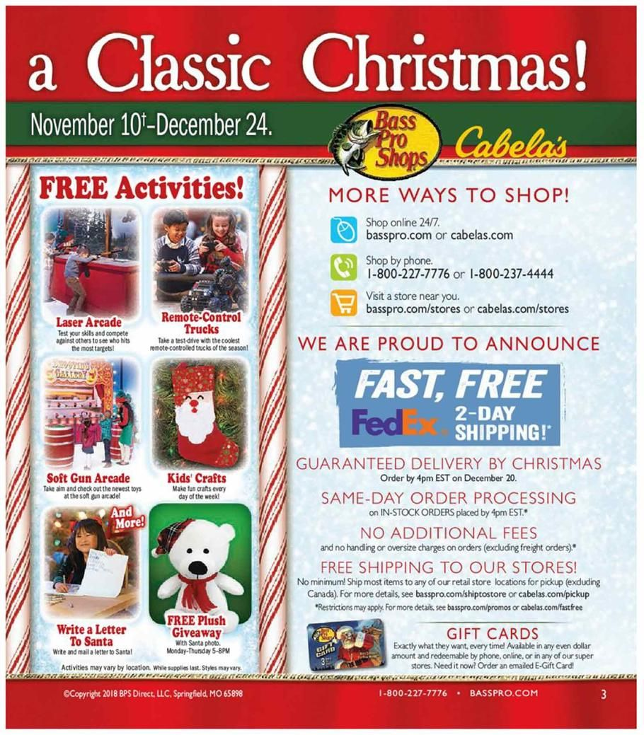 Bass Pro Shops Christmas Sale 2018 Ads And Deals Browse The Bass Pro Shops Christmas Sale 2018 Ad Scan And The Complete Prod Christmas Sale Bass Pro Shops Bass