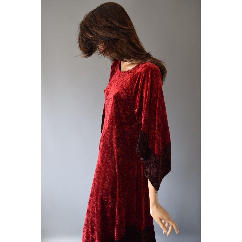 velvet jurk rood