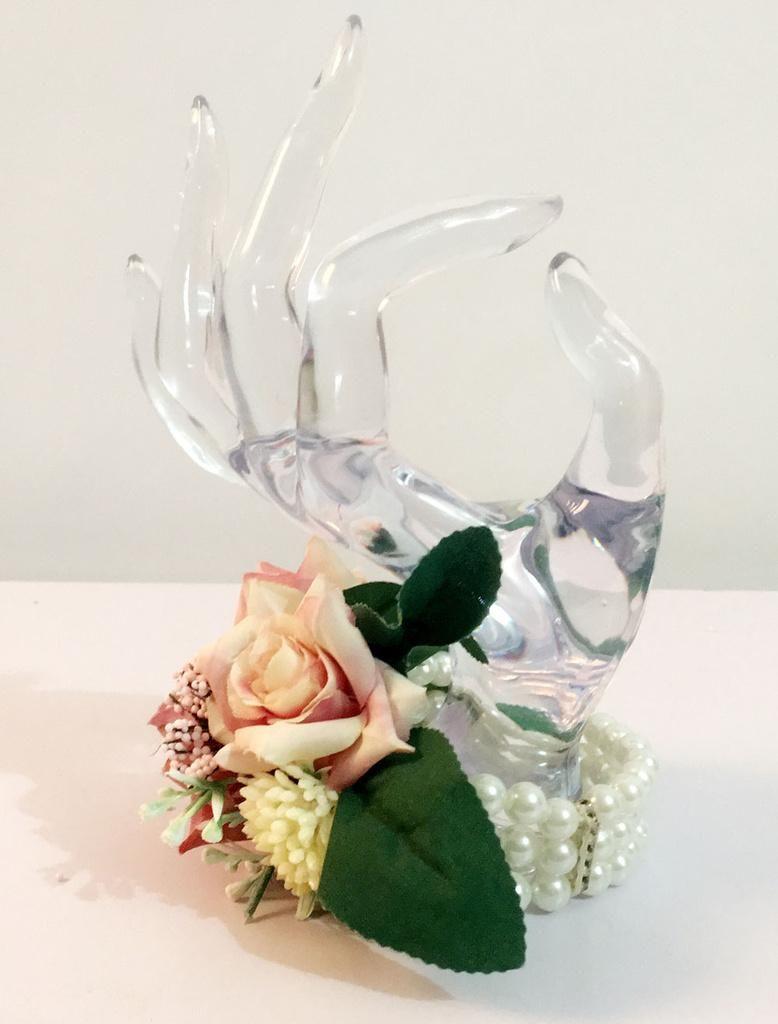 Milanoo Milanoo Wedding Flower Bracelet Pearls Beaded