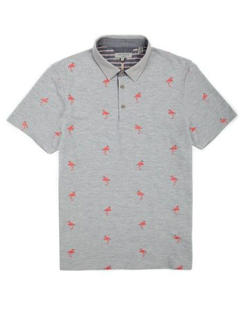 Flamingo print polo - FLMINGO by Ted Baker