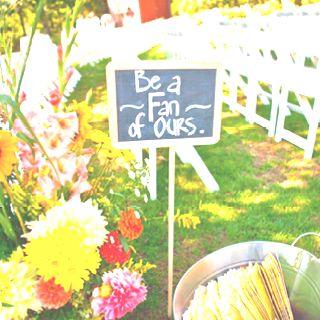 Cute idea for outdoor ceremony