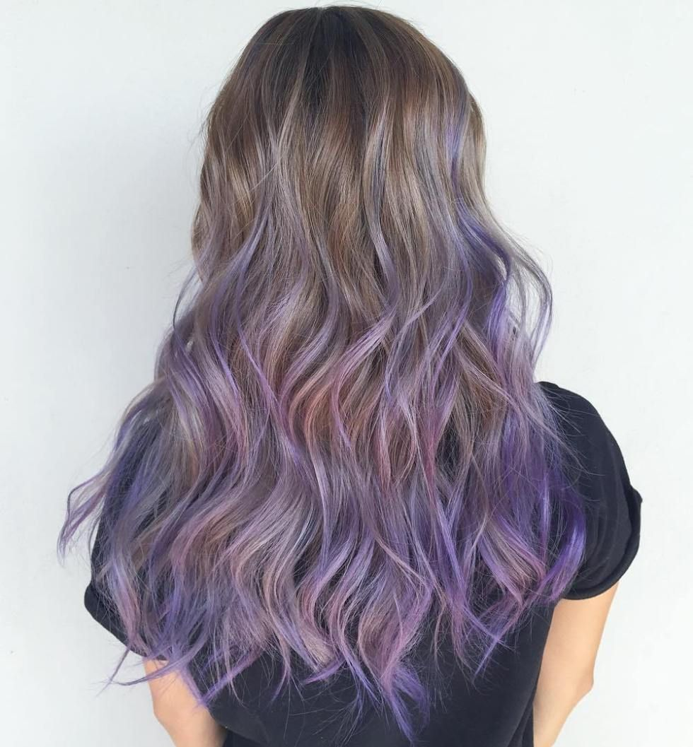 Brown Hair With Lavender Tips Find Your Perfect Hair Style
