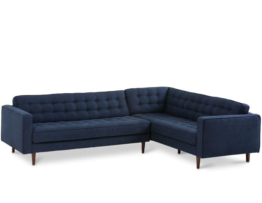 Best Flanigan Sectional Sofa Right Blue Modern Sofa 400 x 300